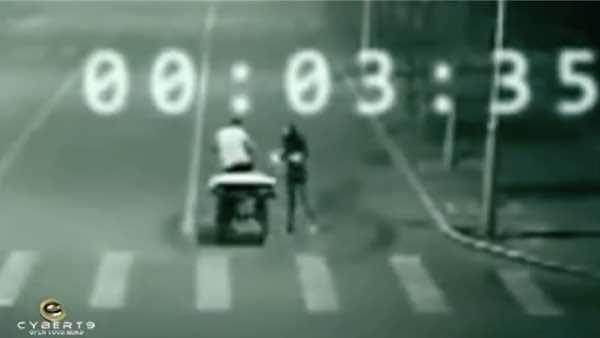 瞬間移動(無時間の状態?)で事故現場から救出