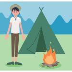 交信ポイント(ボーイスカウト時代の山のキャンプ場)