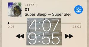 就寝は、スーパースリープで朝まで爆睡。