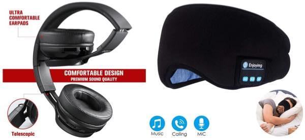 ヘミシンク用のヘッドホンとアイマスク