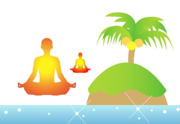 子供と無人島で瞑想